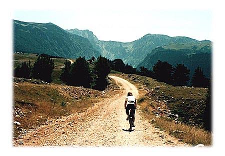 Da li znate kako je pedalati po ovakvom tucaniku? Sve dok ne prevezete barem nekoliko desetina kilometara, ne znate. Međutim, ako ste pravi avanturista, neće vam pasti teško, pogotovo što put prema kanjonu Sušice prolazi kroz najlepše predele Durmitora