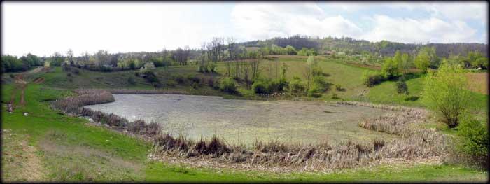 Jezero na kilometar od Suvog Dola