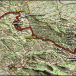 Pregledna karta puta od Kučaja do Stare planine