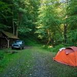Naš logor u Đerdapskoj džungli 6 km uzvodno od Boljetina